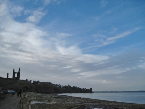 I took this at the end of the old pier, looking back toward town and the Cathedral