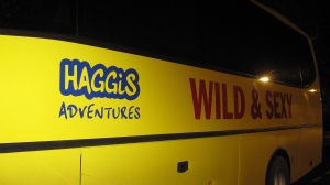 speaking of haggis....<br /><br /> we passed this bus on North Street one night. only in Scotland.