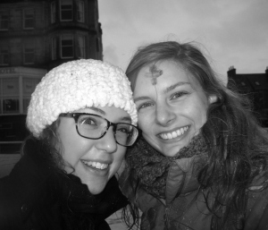 Cold, wet, hungry, and very happy! This is my JSA friend, Sarah.  I am incredibly blessed to have met wonderful people such as her!