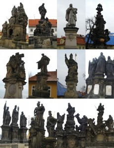 A collage of a dozen of the statues that line the Karlův Most.  Scott laughed at me because I spent several minutes in front of every single statue admiring it.