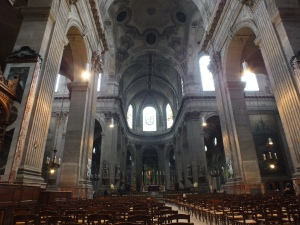 A view from the doors, looking into the church; the photograph does not do it justice.  I cannot find the words to explain how breathtaking it was.