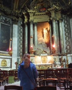I didn't realise that Scott took a photo of me praying the rosary in front of the Lady Chapel.  This was definitely one of the most beautiful parts of the church.