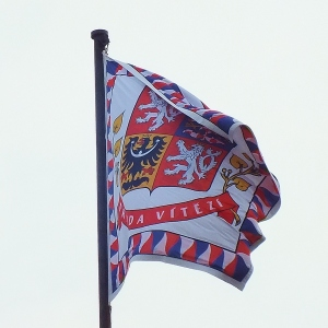 This is the best photo we got of the flag that flies over the Castle.