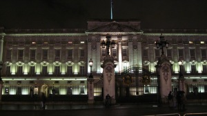 Buckingham Palace at night--massive and beautiful!