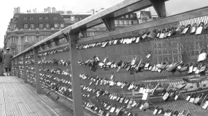 We saw several of these bridges around Europe.  Couple write their names or initials, and the date, on a lock and throw the key into the river to symbolise that their love will never be broken.  So romantic! There were thousands upon thousands of locks.