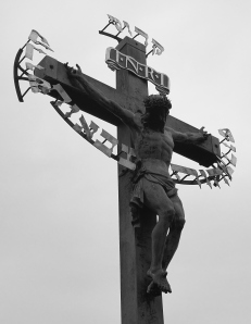 A detail of the crucifix.  This photograph brings tears to my eyes nearly every time I see it; I can't explain why but it really touched me.