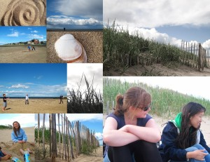 Here is a collection of the photos I took during our afternoon on West Sands; ignoring the cricket and bagpipes, it was the most like Charleston St Andrews ever felt!