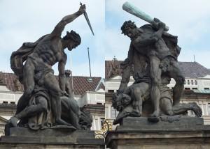 castle statues