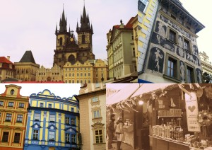 Some photos taken around the square; all of the buildings in Prague were so beautiful and colourful!