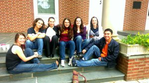 Me and my six best friends at Erskine!