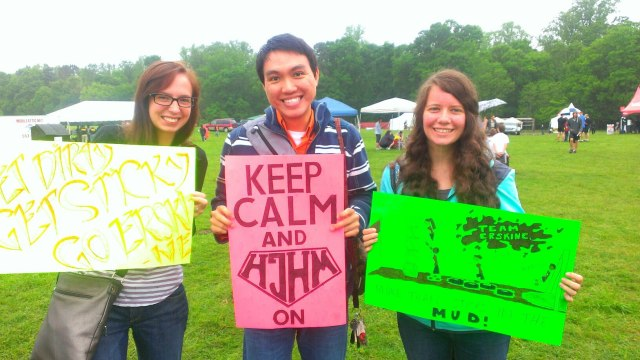 Our friends made signs to motivate us to keep going!