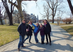 Nick, Hannah, me, Christabel, and Anna posing in one of the many picturesque parts of Dresden.