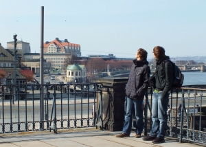 Nick and Scott were admiring the view by the river; I snuck a few shots.