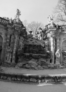 One of countless fountains in the Zwinger; empty for winter, it was still a beautiful sight to behold!