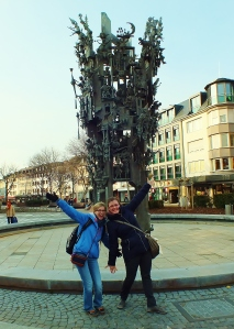 Anna and I posing in front of the Carnival statue. It's actually much larger than it looks in the photo.