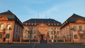 This is the Landtag Rheinland-Pfalz, a central government building in Mainz.  [This explains what exactly it is: http://en.wikipedia.org/wiki/Landtag_of_Rhineland-Palatinate]
