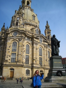 The outside of the Church of Our Lady. I spent some quality time with Luther there; we may have our disagreements, but he's a pretty good guy.