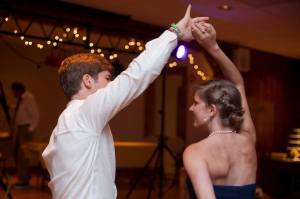 Lawrence and I danced a lot at the reception: no surprise there.