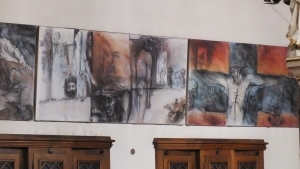 I thought it a bit odd that there was such modern art in such an ancient cathedral, but I was also greatly drawn to it.