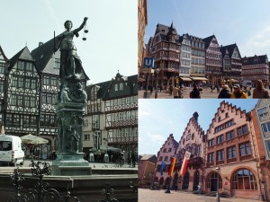 The old square in Frankfurt.  I couldn't decide where to focus my attention!  It was quintessentially German and I loved every bit of it.