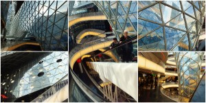 Here is a collage of photos I took inside Zeilgalerie.  Seriously. How cool is this? Just look.