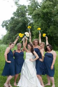 Megan with her bridesmaids.  What a fun group of people!