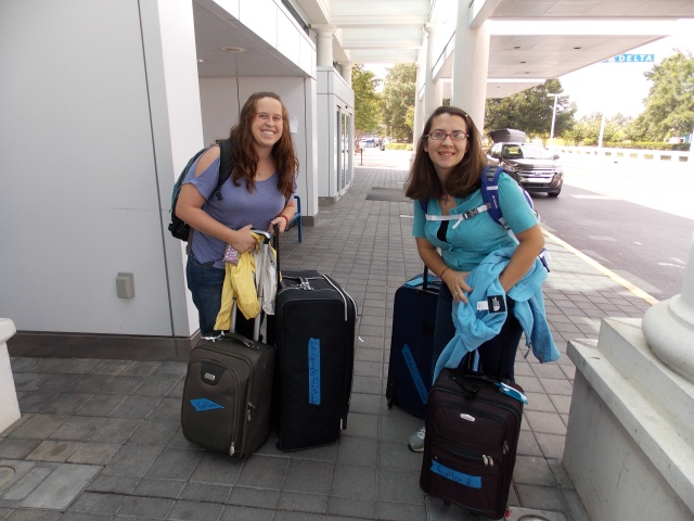 Tiffany and I about to leave SC for our flight to Scotland!