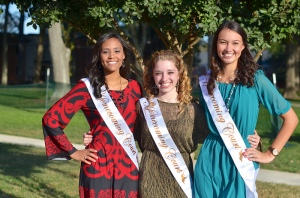 The freshmen court: Kristen Craft, Amanda Strickland, and Anna Raquel Robinson.
