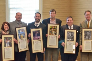 At the banquet, six Erskine alumni were inducted into the Athletic Hall of Fame