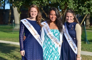 The junior court: Rachel Talbot, Mika Goyette, and Chelsea Ball.