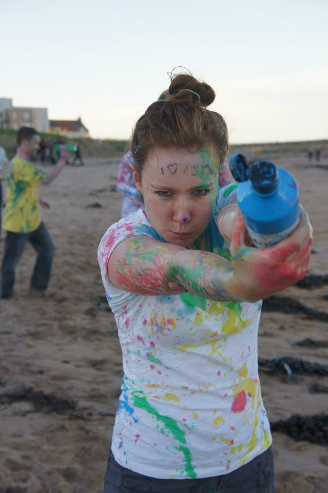 Most of us took the paint fight quite seriously! :)