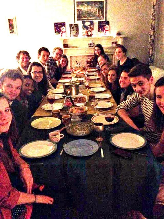 A wonderful meal with wonderful friends! :)