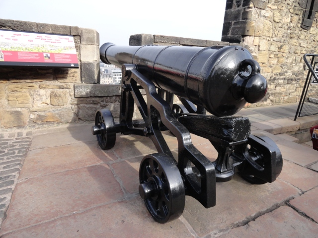 Large cannons placed throughout the castle walls have been a good method of defense!