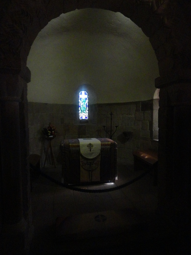 The inside of the chapel is so small that it can only seat about fifteen people!