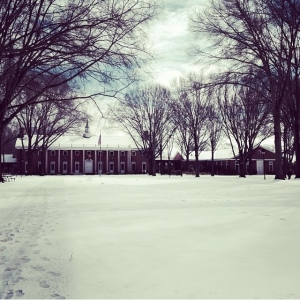 looking across the mall toward Watkins Student Center, photo from Sarah Baroody '16