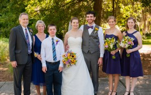 family photo from Nicole's & Jeremy's wedding, June 2012