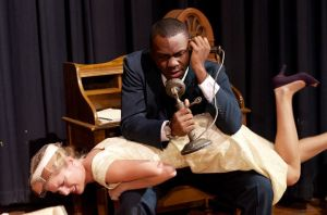 with Tillary Blackman ('13) in Arsenic and Old Lace: possibly my favorite scene I've ever acted. (photo by Katie Putnam)