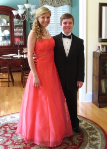 Luke & I got dressed up for his Special Olympics prom last summer