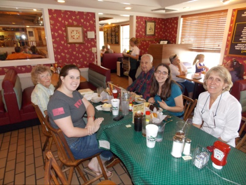 We all went out to lunch at the Lizard's Thicket yesterday- but, don't be fooled! They don't actually serve lizards!