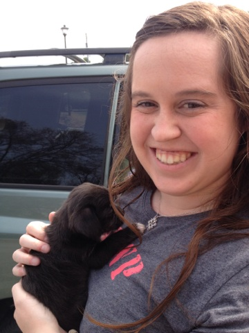Tiffany is as cute as this puppy- and that's saying something!