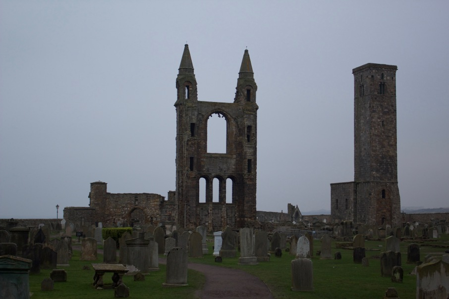 A part of the St. Andrews Cathedral